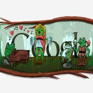 Google doodles leaping frogs; Gioachino Rossini's birthday