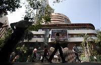 BSE Sensex loses gains as GDP growth sags